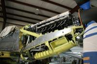 Twin Mustang right engine.  The props are counter rotating